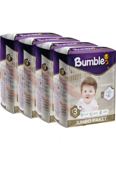 Bumble Bebek Bezi 3 Numara Midi 4'lü Jumbo Paket 72 x 4 = 288'LI
