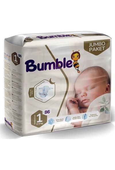 Bumble Bebek Bezi 1 Beden 86'lı Jumbo Paket