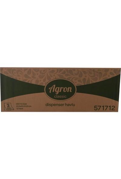 Agron Z Katlamalı Havlu Peçete 12 Paket 12 × 200