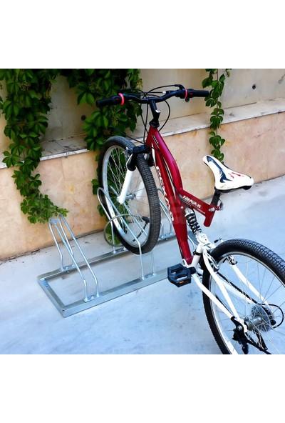 İleritrafik Bisiklet Park Yeri Üçlü Galvaniz, Park Sehpası 40x105 cm
