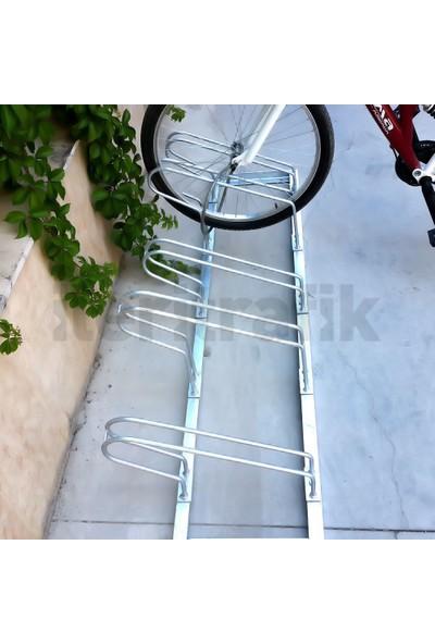 İleritrafik Bisiklet Park Yeri Beşli Galvaniz 40x175 cm, Bisiklet Park Demiri