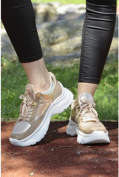 Crash Kadın Sneaker 14430 Altın 36