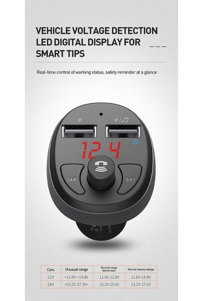 Mcdodo Çift USB Fm Transmitter Bluetooth Araç Şarj Cihazı CC-6880