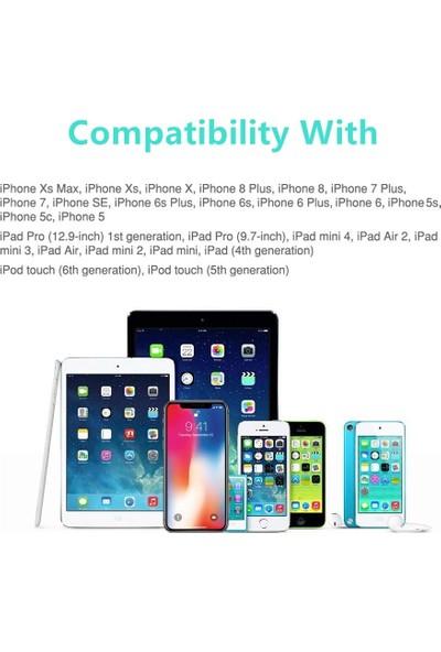 Ats Apple İphone İpad İpod Lightning 2.4A Hızlı Şarj Kablosu ve Data Kablosu 1 mt