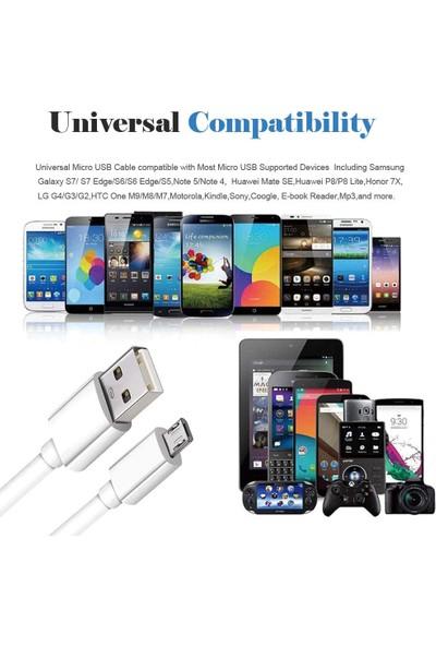 Ats Samsung Galaxy Micro USB 2.4A Hızlı Şarj Kablosu ve Data Kablosu 1 mt