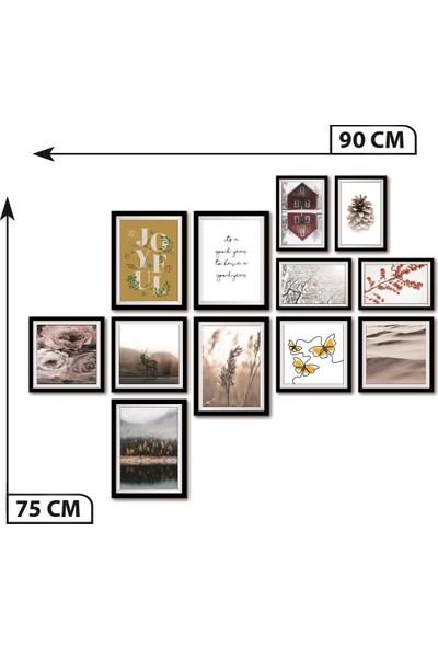 Dekolia 12 Parça Çerçeve Görünümlü Mdf Tablo