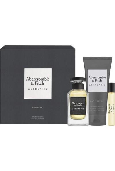 Abercrombie & Fitch Authentic Man Edt 100 ml Erkek Parfüm Set