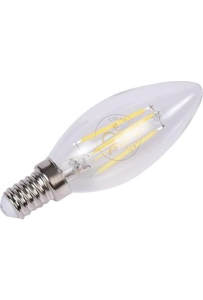 Maxima 4-36W E14 Filament Led Ampul - Beyaz Işık (İnce Duy)