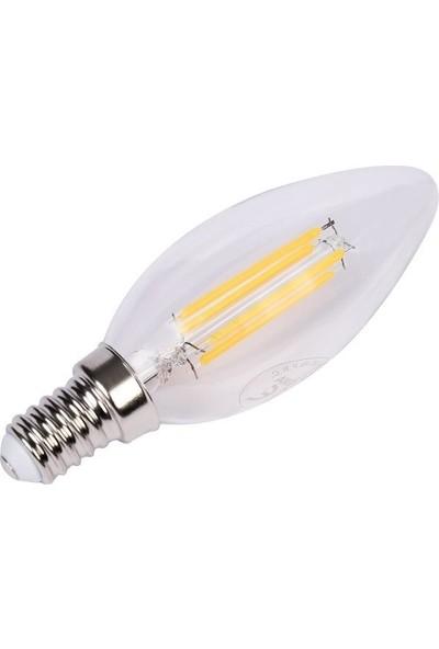 Maxima 4-51W E14 Filament Led Ampul -Sarı Işık (İnce Duy) 6 Adet