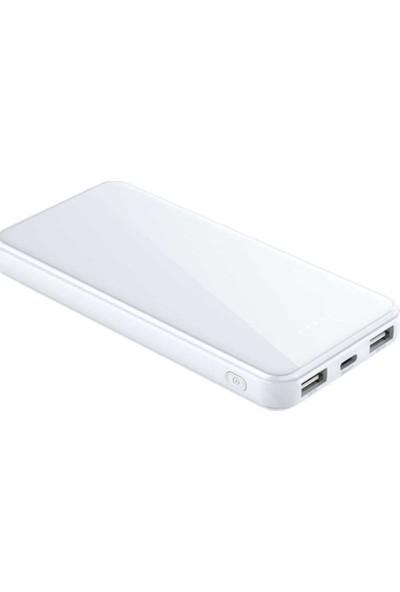 Xipin M8 10000 mAh Çift USB Çıkışlı Mini Powerbank White