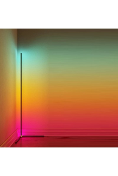 Ekon Dekoratif Kumandalı LED Lambader 16 Renk