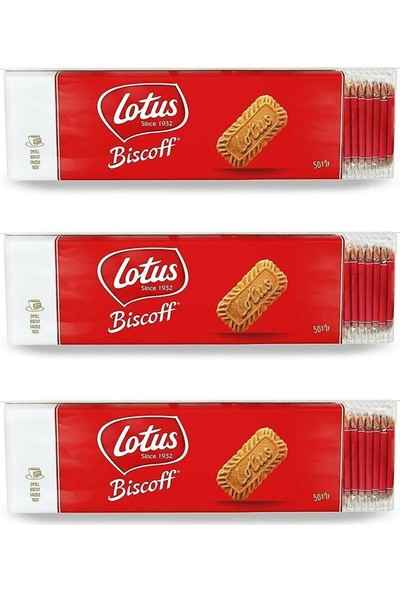 Lotus Biscoff Karamelli Bisküvi 25'li 3 Paket