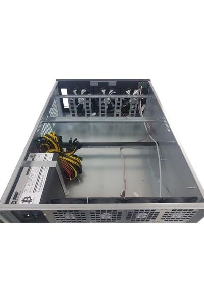 TGC TGC-D600 4u 8 GPU 1600W Mining Server Kasa
