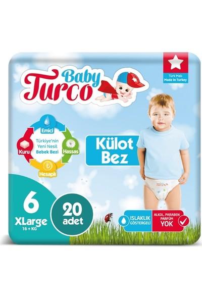 Baby Turco 6 Numara Külot Bez 16+ kg Xlarge 20 Adet