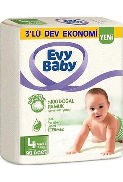 Evy Baby 4 Numara Bebek Bezi 7-14 kg Maxi Ultra Fırsat Paketi 90 Adet