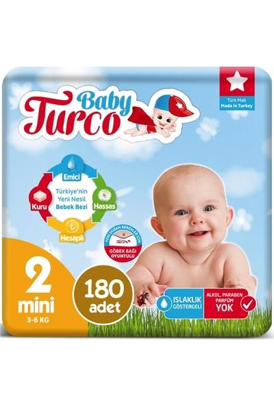 Baby Turco 2 Numara Bebek Bezi 3-6 kg Mini 180 Adet
