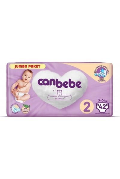 Canbebe 2 Numara Bebek Bezi Mini 3-6 kg Jumbo Paket 42 Adet