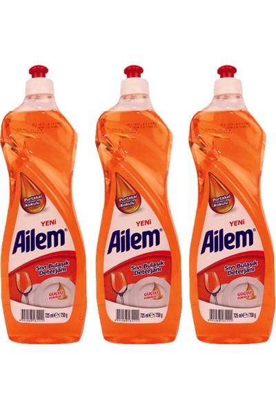 Güleç Ailem Sıvı Bulaşık Deterjanı 750 ml Portakal 3'lü