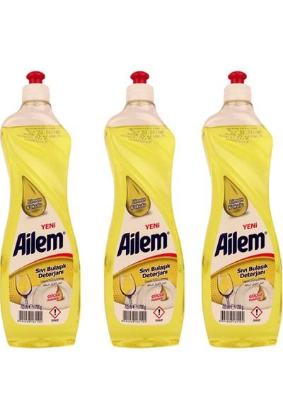 Güleç Ailem Sıvı Bulaşık Deterjanı 750 ml Limon 3'lü