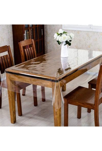 Elegance Şeffaf Masa Örtüsü 0,18 mm Kalınlık 110 cm x 140 cm 4-6 Kişi