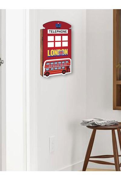 Arti2tr Dekoratif London Temalı 3D Anahtarlık Kutusu