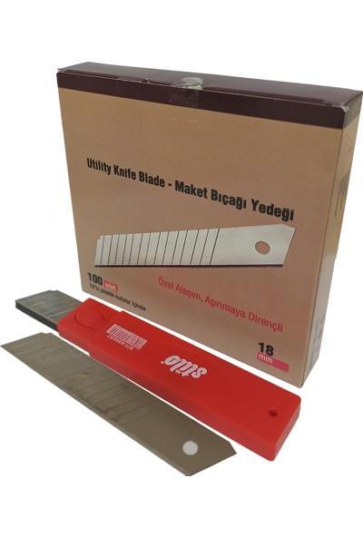 Stilo Maket Bıçağı Yedeği Geniş 18 mm 10'lu