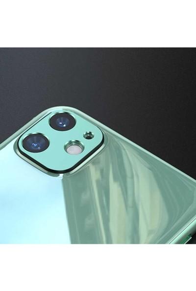 Benks Apple iPhone 11 Kamera Lens Koruyucu Yeşil