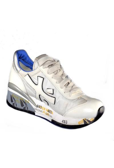 Premiata Kadın Spor Ayakkabı Beyaz Stones