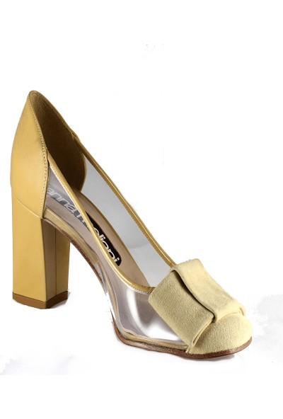 Gianna Melani Kadın Topuklu Ayakkabı Toz Süet Vi̇ni̇l 20600