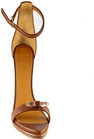 Givenchy Kadın Topuklu Sandalet Kahverengi 515961