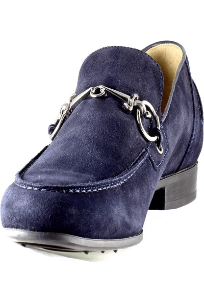 Cesare Paciotti Erkek Loafer Ayakkabı Koyu Mavi Hhru4