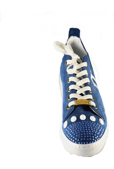John Galliano Kadın Spor Ayakkabı Mavi 2973