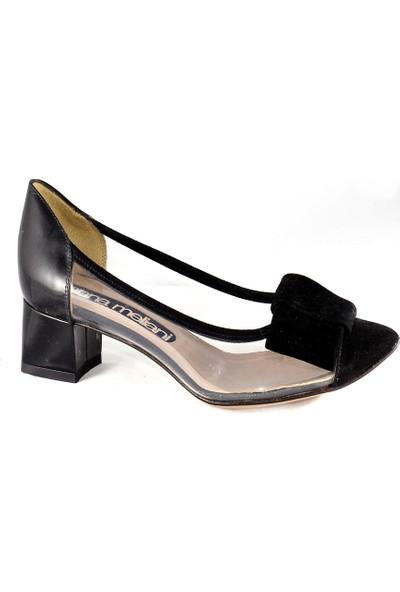 Gianna Melani Kadın Topuklu Ayakkabı Toz Süet Siyah 20121