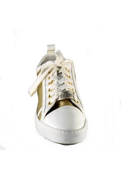 John Galliano Kadın Spor Ayakkabı Altın 8149