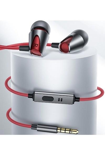 Ally Kuulaa Zinc Alloy 3.5 mm Jack Mikrofonlu Kulakiçi Kulaklık AL-32071