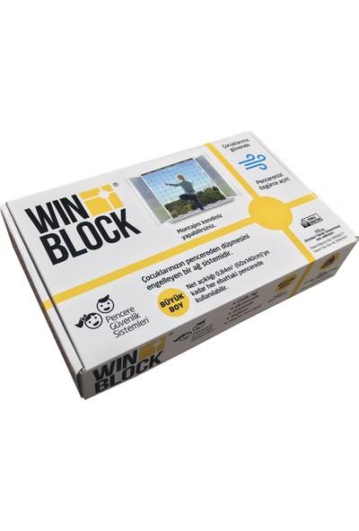 Winblock Çocuk Pencere Çelik Güvenlik Ağı Büyük Boy Kutu