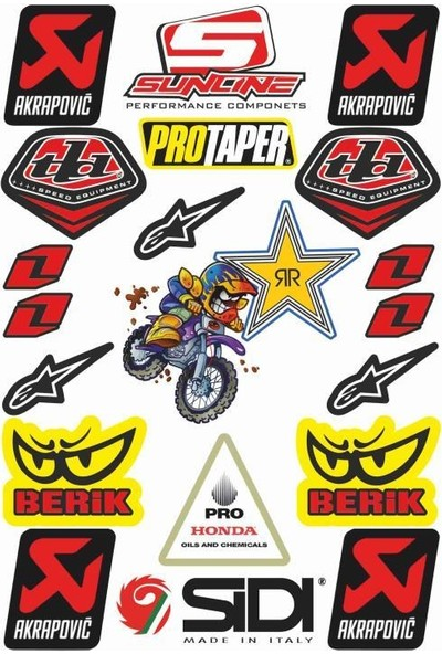 StickerMarket Motosiklet Sponsor Sticker Seti (K)