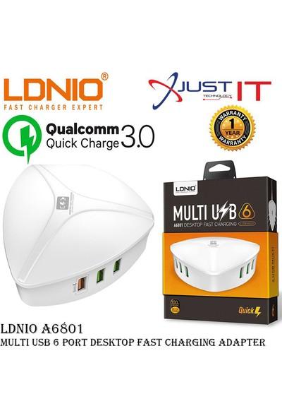 Ldnio A6801 6 Port Masaüstü Hızlı Şarj Cihazı