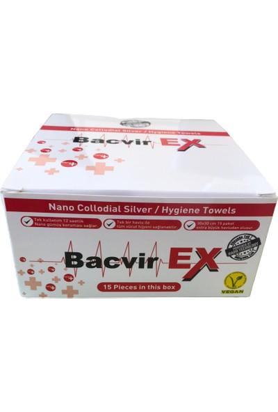 Bacvir Ex Nano Hijyen Havlusu, Dezenfektan Islak Havlu 1 Kutu 15 Paket