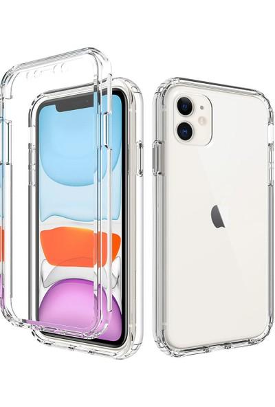 Nomino Apple iPhone 11 Pro Ön-Arka Şeffaf Silikon Kamera Korumalı Kılıf