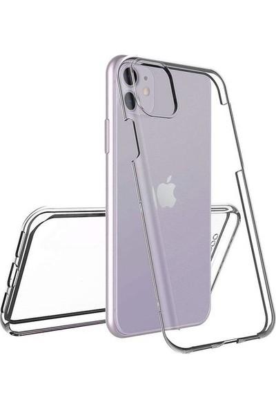 Nomino Apple iPhone 11 Ön-Arka Şeffaf Silikon Kamera Korumalı Kılıf