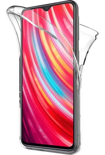Nomino Xiaomi Redmi 8/8A Tam Koruma Ekran Koruyuculu Şeffaf Silikon Kılıf