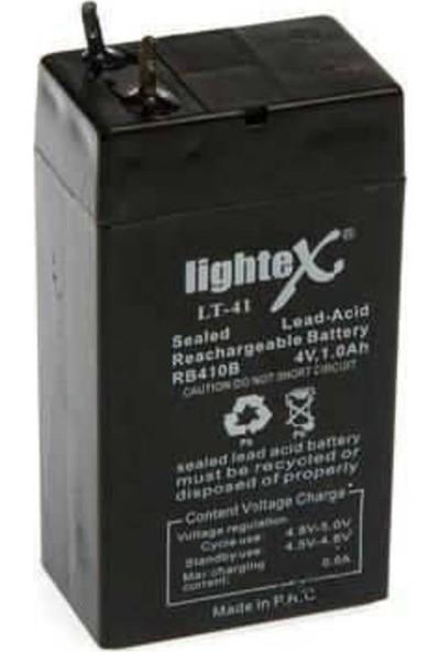 Lightex Lt-41 4V 1AH Kuru Bakımsız Işıldak Aküsü
