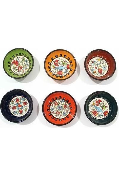 Kütahya Seramik Renkli Çini Desen 6'lı Kase
