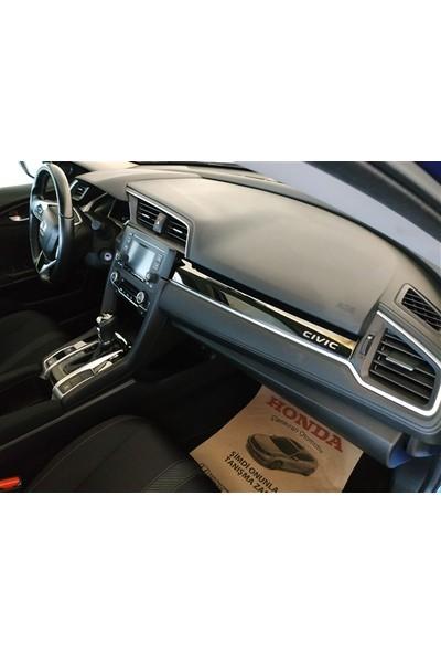 Autokit Honda Civic Araç İçi Krom Kaplama Seti 9 Parça FC5-FK7 (2016+)
