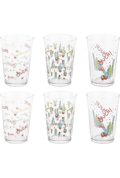 Tantitoni 6 Parça Lovely Cactus Su Bardağı Takımı