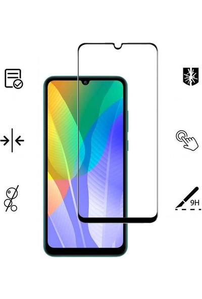 Case Street Huawei Y6P Full Kapatan Renkli Tam Koruma Siyah