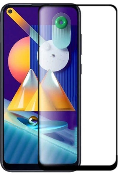 Case Street Samsung Galaxy M11 Full Kapatan Renkli Tam Koruma Siyah