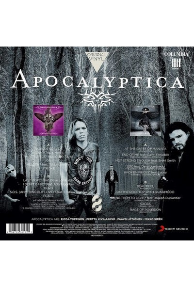 Apocalyptica Original Vinyl Classics Plak