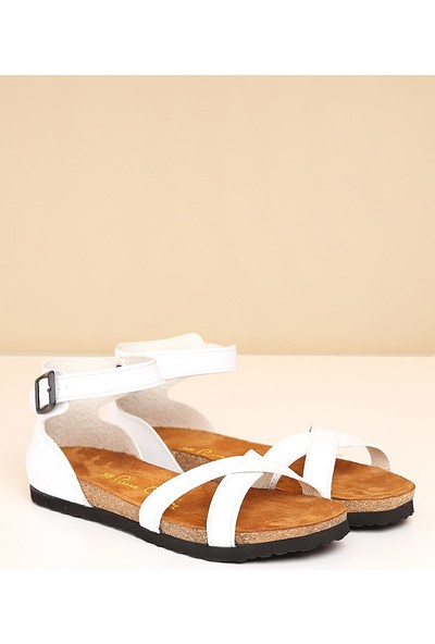 Pierre Cardin Pc-5081-50-19-Beyaz Sandalet
